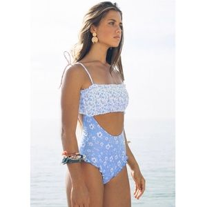Other - Sky Blue Cropped One Piece Swimsuit